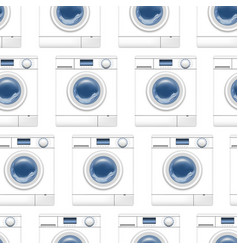 realistic detailed 3d washing machine seamless vector image
