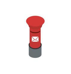red metal post box correspondence postal mail vector image