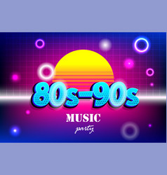 Retro background in 80s 90s pop art style vector