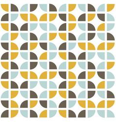 Retro seamless pattern mid-century modern style vector