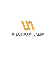 ribbon business logo vector image