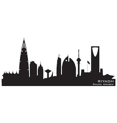 Riyadh Saudi Arabia skyline Detailed silhouette vector
