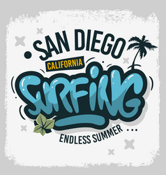 San diego california united states usa surfing vector