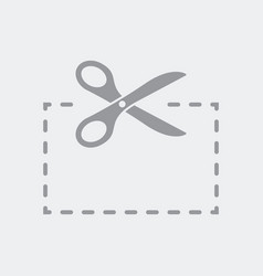 scissors cut a rectangle vector image
