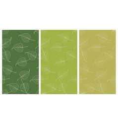 seamless bo leaf backdrop set vector image