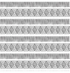 seamless ethnic tribal pattern vector image