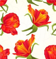 Seamless texture orange roses cracks vector image vector image