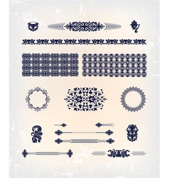 set abstract decor pattern design vector image