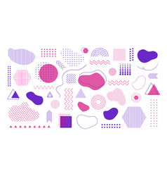 Set abstract different shapes lines vector