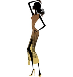 side view of woman vector image vector image