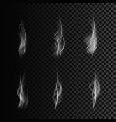 smoke forms set of smoke isolated on transparent vector image