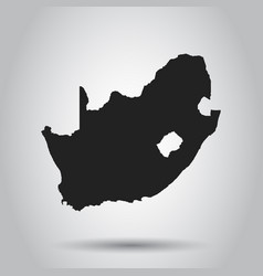 South africa map black icon on white background vector
