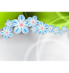 spring background with the green wave vector image