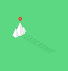 Summit of isometric mountain like leadership logo vector