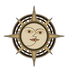 Sun and moon sign vector image vector image