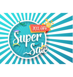 Super sale poster vector