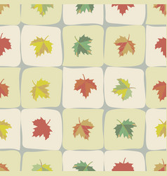 the tile repeats with maple leaves vector image