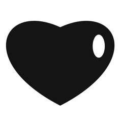 Three-dimensional heart icon simple style vector