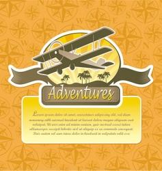 Travel emblem vector