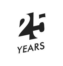 Twenty five years emblem template vector