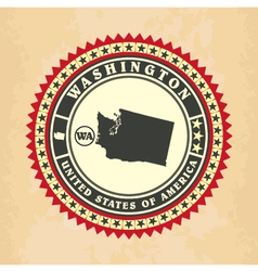 Vintage label-sticker cards of Washington vector