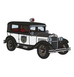 Vintage police car vector image vector image