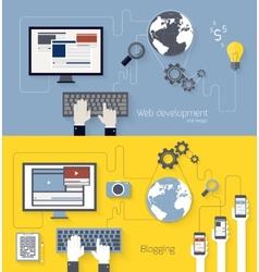 Web development and blogging design vector