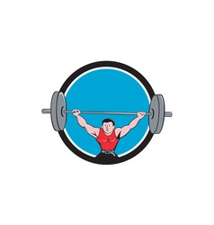 Weightlifter Deadlift Lifting Weights Circle vector