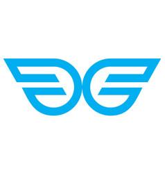 wings logo design logo icon concept vector image