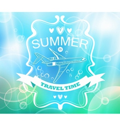 blue tender summer background vector image