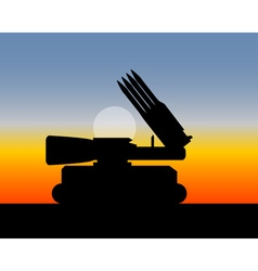 missile launcher with four missiles vector image vector image