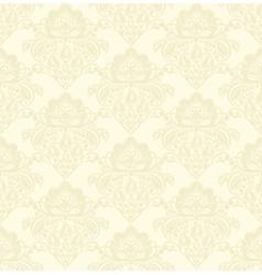 damask seamless pattern beige vector image