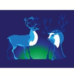 two deer vector image