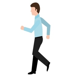 avatar business man walking graphic vector image