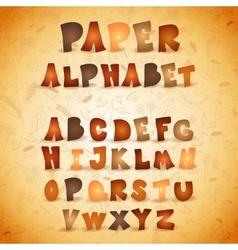 Colorful paper ABC letters Autumn alphabet vector image