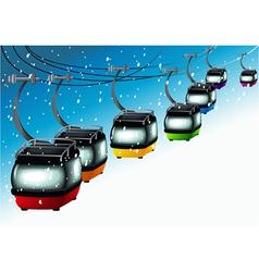 Gondolas on cableways vector image vector image