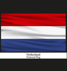 national flag of netherland vector image vector image