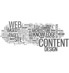 Web design be an architect text word cloud concept vector