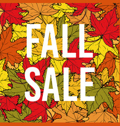 autumn fall sale poster vector image vector image
