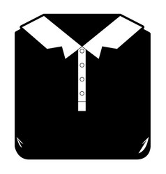 black sections silhouette of men polo shirt folded vector image