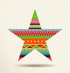 Colorful star design in fun geometric shape style vector image vector image