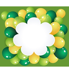 Flower frame with balloons vector image vector image