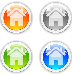 House buttons vector image