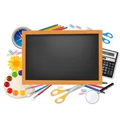 school supplies vector image vector image