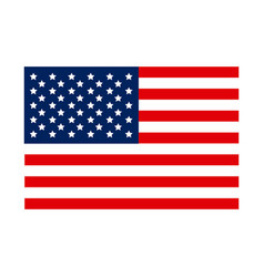 united states flag icon vector image vector image