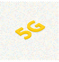 5g symbol of wireless internet connection vector