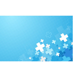 abstract blue geometric medical cross shape vector image