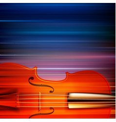 abstract blur music background with violin vector image vector image
