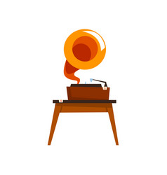 antique gramophone old unnecessary thing garage vector image