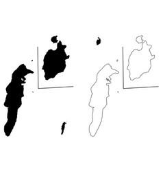 Archipelago of san andres providencia and santa vector